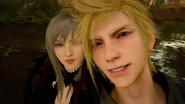 Prompto and Aranea selfie from FFXV