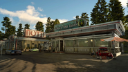 Taelpar Crag Rest Area Crow's Nest Diner from FFXV
