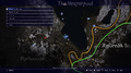 Vesperpool rainbow frog location map from FFXV
