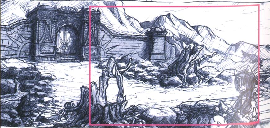 Aerbs Mountains South Gate Treno Arch FFIX Art.jpg