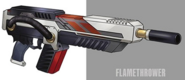 Flamethrower artwork for FFVII Remake