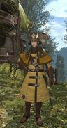 Sanson in Serpent uniform from FFXIV