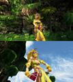 Rikku Lady Luck Victory Pose