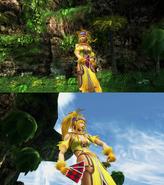 Rikku Lady Luck Victory Pose
