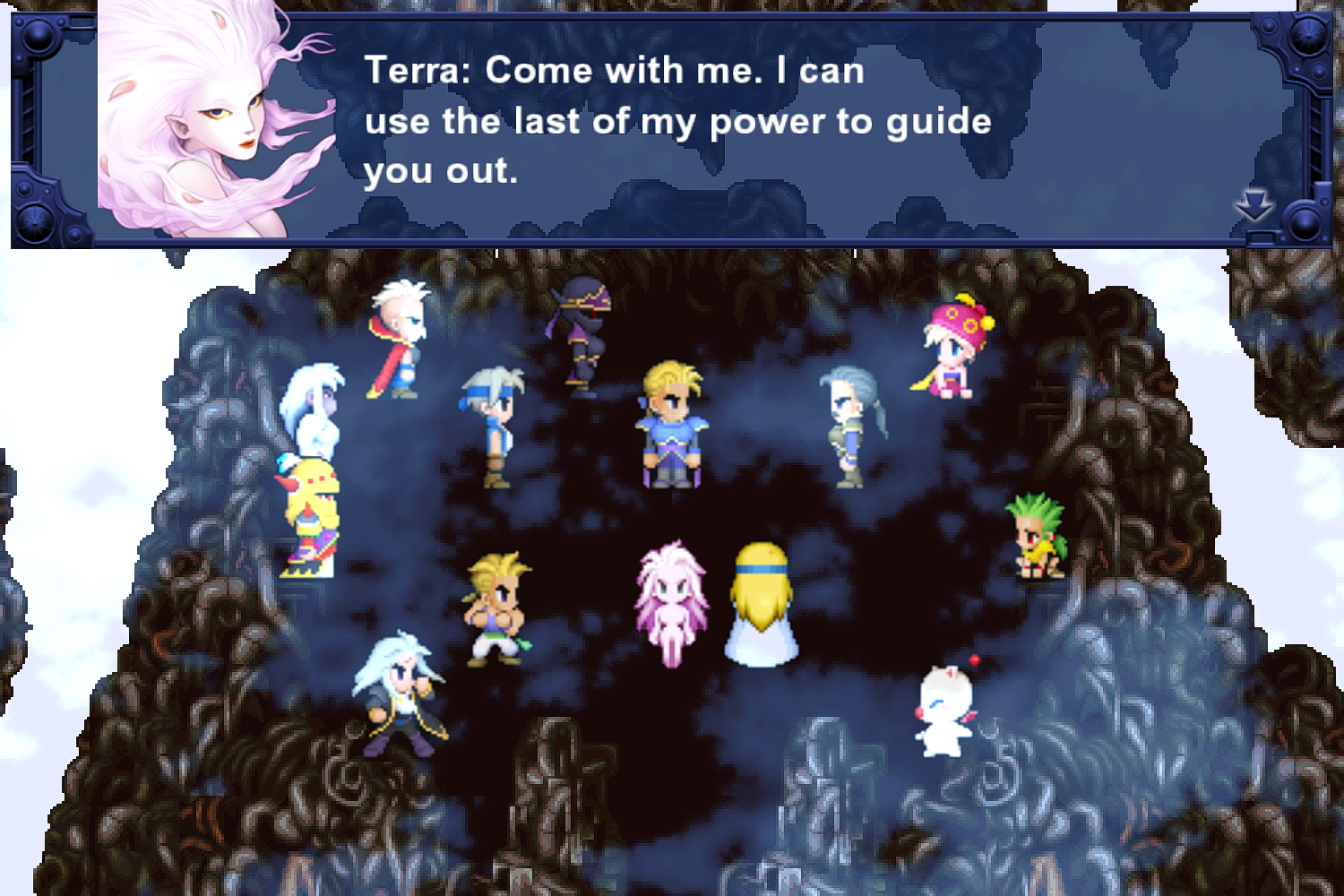 FFVI PC Escaping Kefka Tower.png