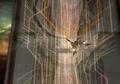 Ragnarok flies to the Lunatic Pandora from FFVIII Remastered