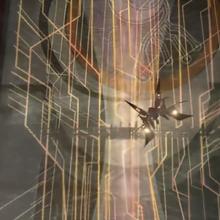Ragnarok flies to the Lunatic Pandora from FFVIII Remastered.png