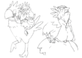 Chocoimo sketches 1 for Final Fantasy Unlimited