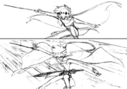 Kumo action sketch 4 for Final Fantasy Unlimited