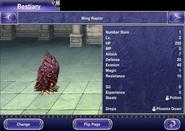 Final Fantasy V iOS Bestiary Wing Raptor Closed