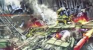 Scorpion Sentinel battle artwork for FFVII Remake