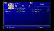 FFII PSP Status Menu 2