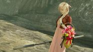 LRFFXIII Midgar's Flower Girl's victory pose