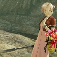 LRFFXIII Midgar's Flower Girl's victory pose.jpg