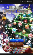 FFRK Christmas 2016 Title Screen