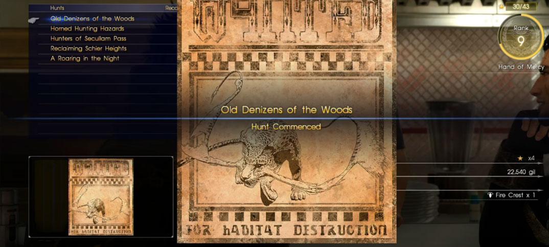 Quest Final Fantasy Xv Hunts Final Fantasy Wiki Fandom