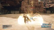 Spinning Axe Kick from FFVII Remake