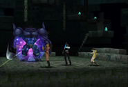 Iron Giant uses Mighty Guard from FFVIII Remastered