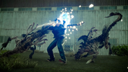 Gladiolus fights voretooths from FFXV