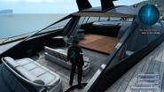 Resting on the royal vessel in FFXV