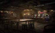 Seventh Heaven interior artwork for Final Fantasy VII Remake