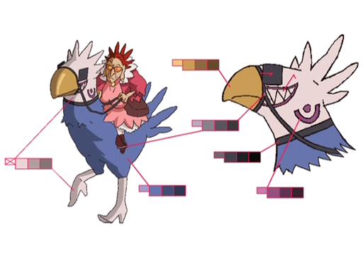 Chocoimo's Chocobo palette concept for Final Fantasy Unlimited.png