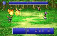 Firion using Fire I from FFII Pixel Remaster