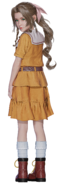 Young Aerith orange outfit from FFVII Remake render