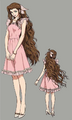 Aerith dress 1 from FFVII Remake concept art