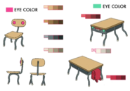 Desk and chair palette concept for Final Fantasy Unlimited