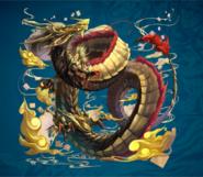 Morrow Gold Dragon from FFD2 Artwork Alt1