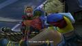 FFX HD Rikku feeds Tidus