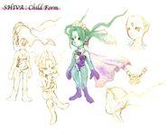 Shiva Child Form FFIX Art