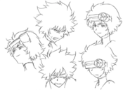 Cid face concept sketches for Final Fantasy Unlimited