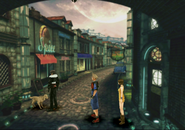 Dog outside the artists house from FFVIII Remastered