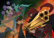 Kaze vs Gaudium promo art for Final Fantasy Unlimited