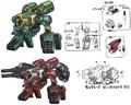 War Machine and Death Machine concept art for World of Final Fantasy
