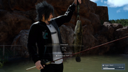 Catching a Snakehead at Daurell Spring in FFXV