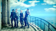 Group photo at the top of the lighthouse in FFXV