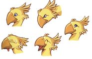 Chocobo Racing Faces FFVII Art