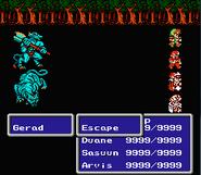 FFIII NES Escape Command