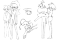 Clear sketches 3 for Final Fantasy Unlimited