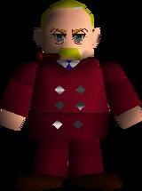 Tạo hình của President Shinra trong Final Fantasy VII.