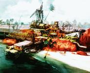 Bodhum beach concept