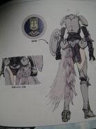 FFXIII-2 Lightning Artwork Behind