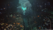 Power goes out in Midgar from FFVII Remake