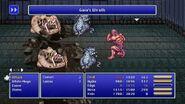Rydia using Gaia's Wrath from FFIV Pixel Remaster