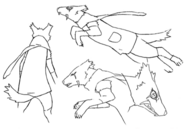 Lou werewolf concept lines 3 for Final Fantasy Unlimited