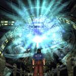 Laguna freezes Adel in her tomb from FFVIII Remastered.png