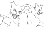 Lou werewolf concept lines 2 for Final Fantasy Unlimited